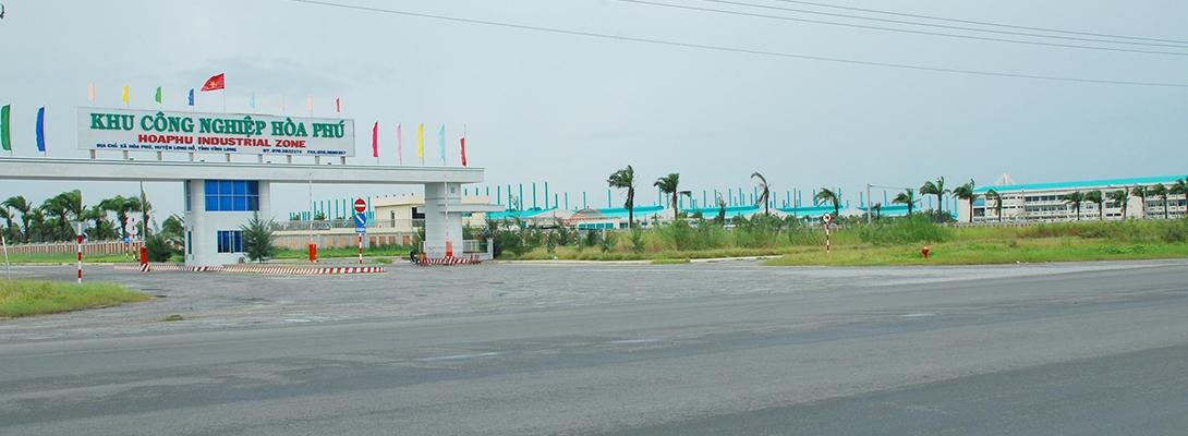 Banner khu công nghiệp Hoà Phú