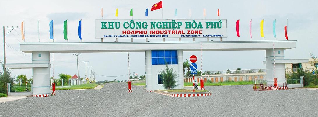 Banner khu công nghiệp Hoà Phú 2